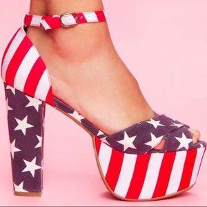 Jeffrey Campbell El Carmel America heels size 9.5